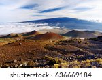 breathtaking view of mauna loa... | Shutterstock . vector #636669184
