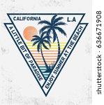 los angeles  california... | Shutterstock .eps vector #636671908