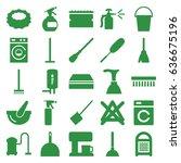 household icons set. set of 25... | Shutterstock .eps vector #636675196