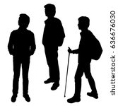 set vector silhouette of a... | Shutterstock .eps vector #636676030