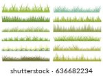 horizontal vector cartoon green ... | Shutterstock .eps vector #636682234