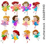 different characters of fairies ... | Shutterstock .eps vector #636689440