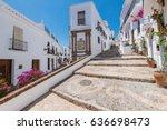 charming narrow historic... | Shutterstock . vector #636698473