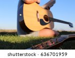 summer songwriting session | Shutterstock . vector #636701959