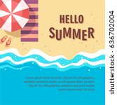 hello summer concept vector...   Shutterstock .eps vector #636702004