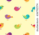 vector cartoon pattern with... | Shutterstock .eps vector #636702574