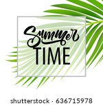 summer poster with tropical... | Shutterstock .eps vector #636715978