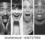 beautiful group of people | Shutterstock . vector #636717583