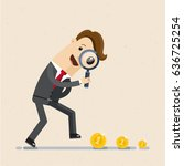 businessman looking for money... | Shutterstock .eps vector #636725254