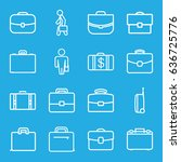 brief icons set. set of 16... | Shutterstock .eps vector #636725776