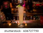 cocktail in a tall glass | Shutterstock . vector #636727750