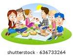cartoon vector illustration of... | Shutterstock .eps vector #636733264