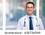 smiling doctor | Shutterstock . vector #636736549