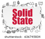 science concept  painted red...   Shutterstock . vector #636745834