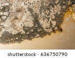 part of car burned, burned texture - stock photo