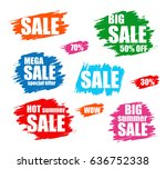 sale promo stickers. shopping...   Shutterstock .eps vector #636752338