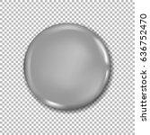 vector blank button design.... | Shutterstock .eps vector #636752470