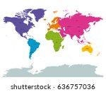 political world colored by... | Shutterstock .eps vector #636757036