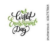 world environment day hand