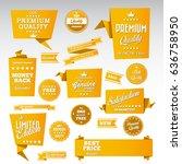 origami vintage labels set....   Shutterstock .eps vector #636758950