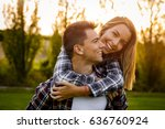portrait of a happy young...   Shutterstock . vector #636760924