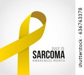 july is sarcoma awareness month ... | Shutterstock .eps vector #636763378