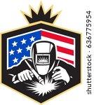 illustration of welder arc... | Shutterstock .eps vector #636775954