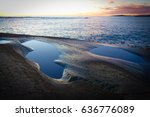 ponds on rocky beach | Shutterstock . vector #636776089