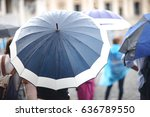 people are under large... | Shutterstock . vector #636789550