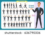 set of young male businessman... | Shutterstock .eps vector #636790336