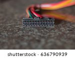 multi color wiring harness with ... | Shutterstock . vector #636790939