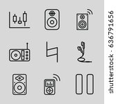 sound icons set. set of 9 sound ... | Shutterstock .eps vector #636791656