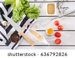 delicious mayonnaise in gravy... | Shutterstock . vector #636792826