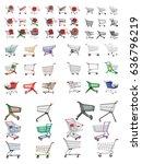 shopping trolley. shopping... | Shutterstock .eps vector #636796219