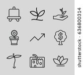 grow icons set. set of 9 grow... | Shutterstock .eps vector #636800314