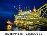 offshore oil and gas central...   Shutterstock . vector #636800836