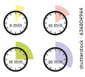 set of timers   five  ten ... | Shutterstock .eps vector #636804964