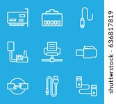 connector icons set. set of 9... | Shutterstock .eps vector #636817819