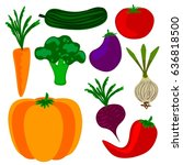 vegetables | Shutterstock .eps vector #636818500