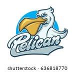 pelican character mascot logo   Shutterstock .eps vector #636818770