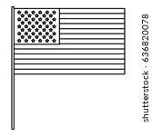 united statae of america flag | Shutterstock .eps vector #636820078
