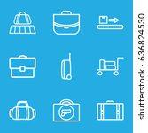 baggage icons set. set of 9... | Shutterstock .eps vector #636824530