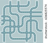 streets and roads pattern in... | Shutterstock .eps vector #636825574