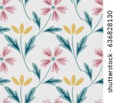 seamless pattern with... | Shutterstock .eps vector #636828130