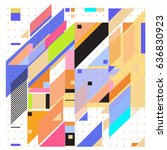 abstract colorful geometric... | Shutterstock .eps vector #636830923