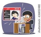 african businessman video... | Shutterstock . vector #636832480