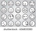 set of smiley emotion face | Shutterstock .eps vector #636833383