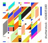 abstract colorful geometric... | Shutterstock .eps vector #636835180