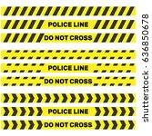 police line isoleted. vector... | Shutterstock .eps vector #636850678