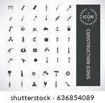 construction icon set clean... | Shutterstock .eps vector #636854089